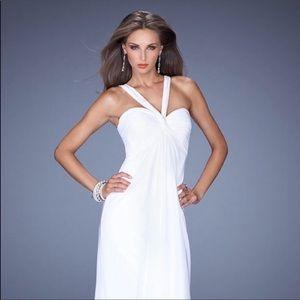 La Femme 19348 size 10 white wedding dress NWT